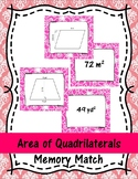 Area of Quadrilaterals Memory Match
