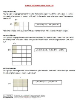 Area of Rectangle with Fractional Sides Lesson Plan