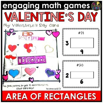 Valentine's Day Area of Rectangles Game