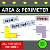 Area and Perimeter of Rectangles (cm) – Revision - GCSE – maths – exam questions