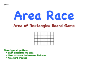 Area of Rectangles Board Game