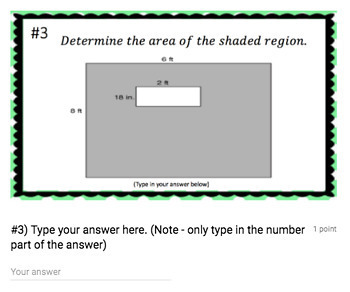 Area of Rectangles (Google Form & Interactive Video Lesson!)