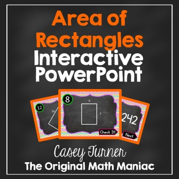 Area of Rectangles Interactive PowerPoint