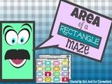 Area of Rectangles: Measurement Maze Activity