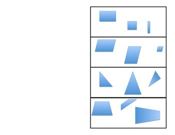 Area of Rectangles, Parallelograms, Triangles, and Trapezoids foldable