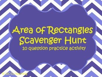 Area of Rectangles Scavenger Hunt Practice Activity
