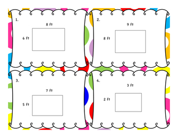 Area of Rectangles - Single Digits - Differentiated Word Problem Task Cards