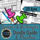Area of Rectangles & Squares Doodle Guide & Practice Worksheet; Geometry