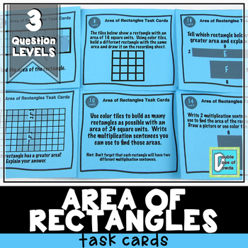 Area of Rectangles Task Cards