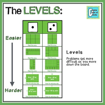 Area of Rectangles Tic-Tac-Toe Game