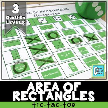 Area of Rectangles Tic-Tac-Toe
