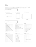 Area of Rectangles Triangles Parallelograms Trapezoids and Circles TEST (34 Q)