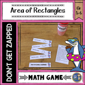 Area of Rectangles Don't Get ZAPPED Math Game
