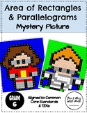 Area of Rectangles and Parallelograms Activity Mystery Picture