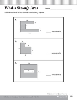 Area of Rectangles and Squares