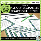 Area of Rectangles with Fractional Sides- Math Center Acti