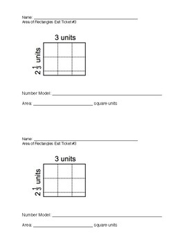 Area of Rectangles with Fractional Sides WITH Answer Keys