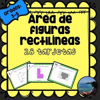Area of Rectilinear Shapes in Spanish / Area de figuras irregulares