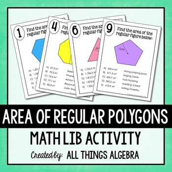 Area of Regular Polygons Math Lib