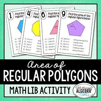 Area of Regular Polygons Math Lib