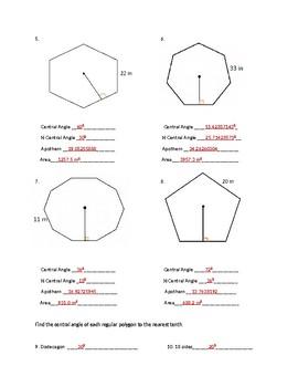 Area of Regular Polygons
