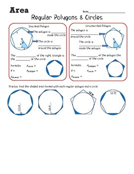 Area of Regular Polygons & Circles