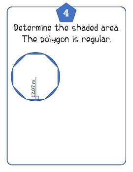 Area of Regular Polygons & Circles Practice