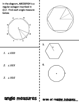Area of Regular Polygons Foldable