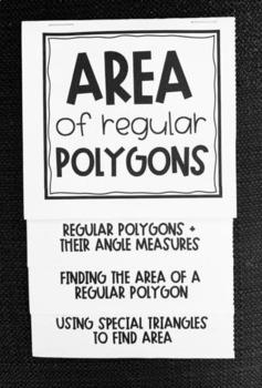Area of Regular Polygons (Geometry Foldable)