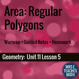 Area of Regular Polygons Lesson