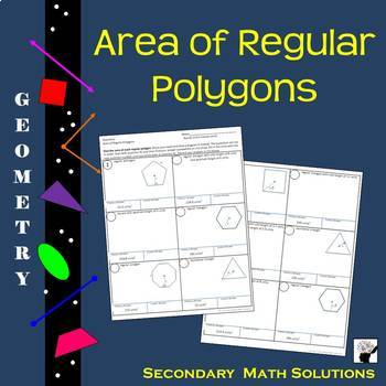 Area of Regular Polygons Practice Activity (G.11A)