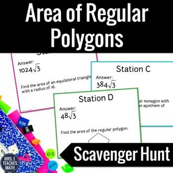 Area of Regular Polygons Scavenger Hunt