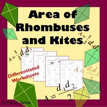 Kites Rhombus Area Teaching Resources Teachers Pay Teachers