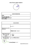 Area of Sector of Circle Graphic Organizer