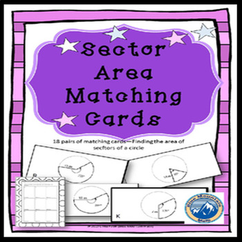 Area of Sectors Matching Card Set