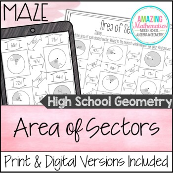 Area of Sectors Maze