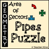 Area of Sectors - Pipes Puzzle Activity