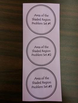 Area of Shaded Region Foldable