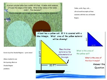 Area of Shaded Region - Moving Parts