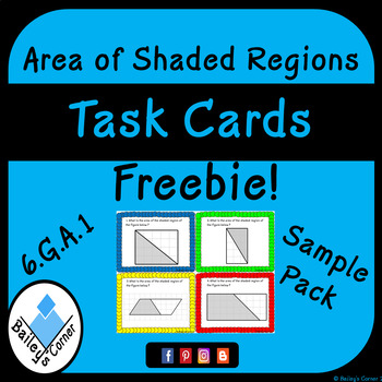Area of Shaded Regions Task Cards Sample Pack