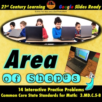 Area of Shapes Practice for Google Drive