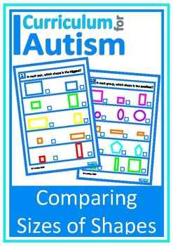 Area of Shapes- Comparing Bigger Smaller, Autism Special Education Math