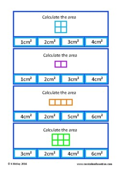 Area of Rectangles Clip Cards Autism Special Education