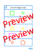 Area of Shapes BUNDLE Clip Cards, Lotto Game, Write & Wipe Cards, Autism