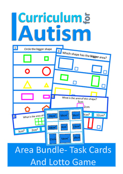 Area of Shapes BUNDLE Autism Special Education