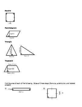 Area of Shapes Notes