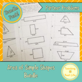 Area of Simple Shapes Partner Problems Combo Pack