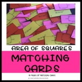 Area of Squares Matching Card/ Sorting Card Set