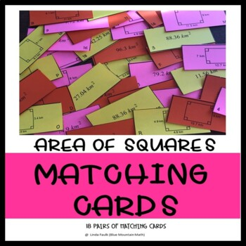 Area of Squares Matching Card Set