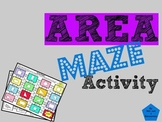 Area of Squares, Rectangles, and Triangles: Measurement Maze Activity